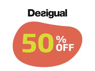 DESIGUAL 50%OFF EM ITENS SELECIONADOS
