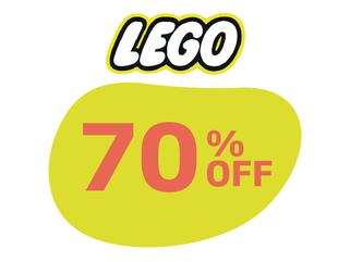 LEGO 70% OFF
