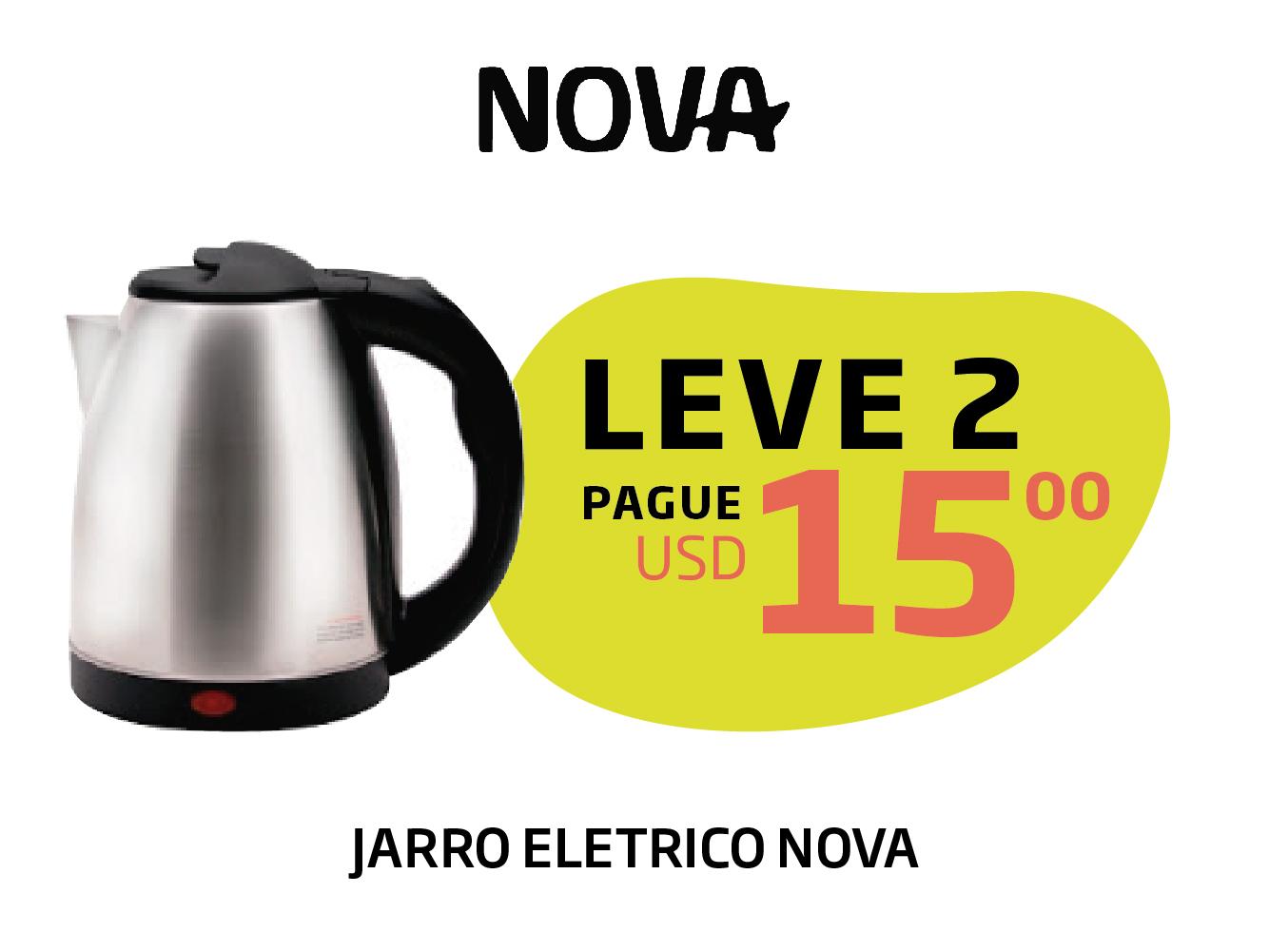 LEVE 2 JARROS ELETRICOS NOVA USD 15
