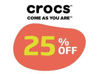 CROCS 25% OFF EM TODA A LINHA